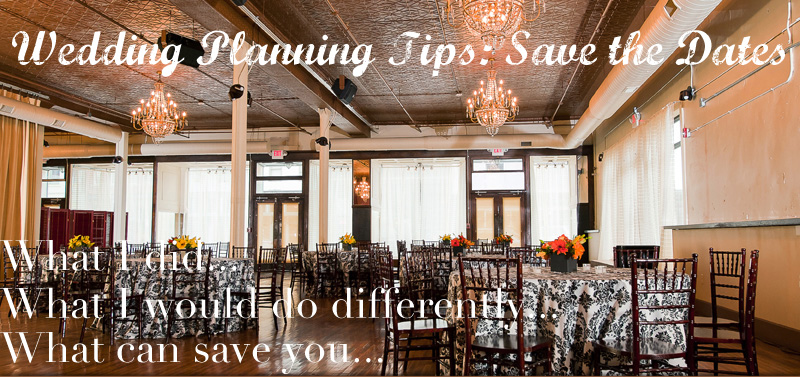 wedding planning tips save the dates