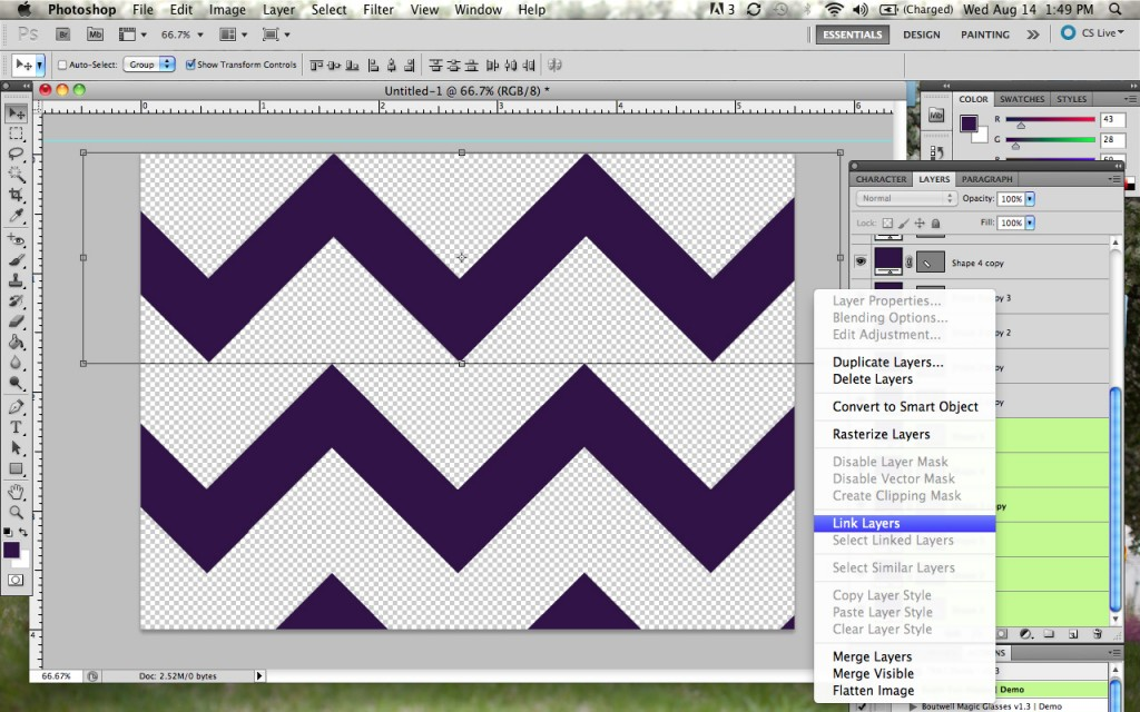 How To Create a Chevron Pattern in Photoshop