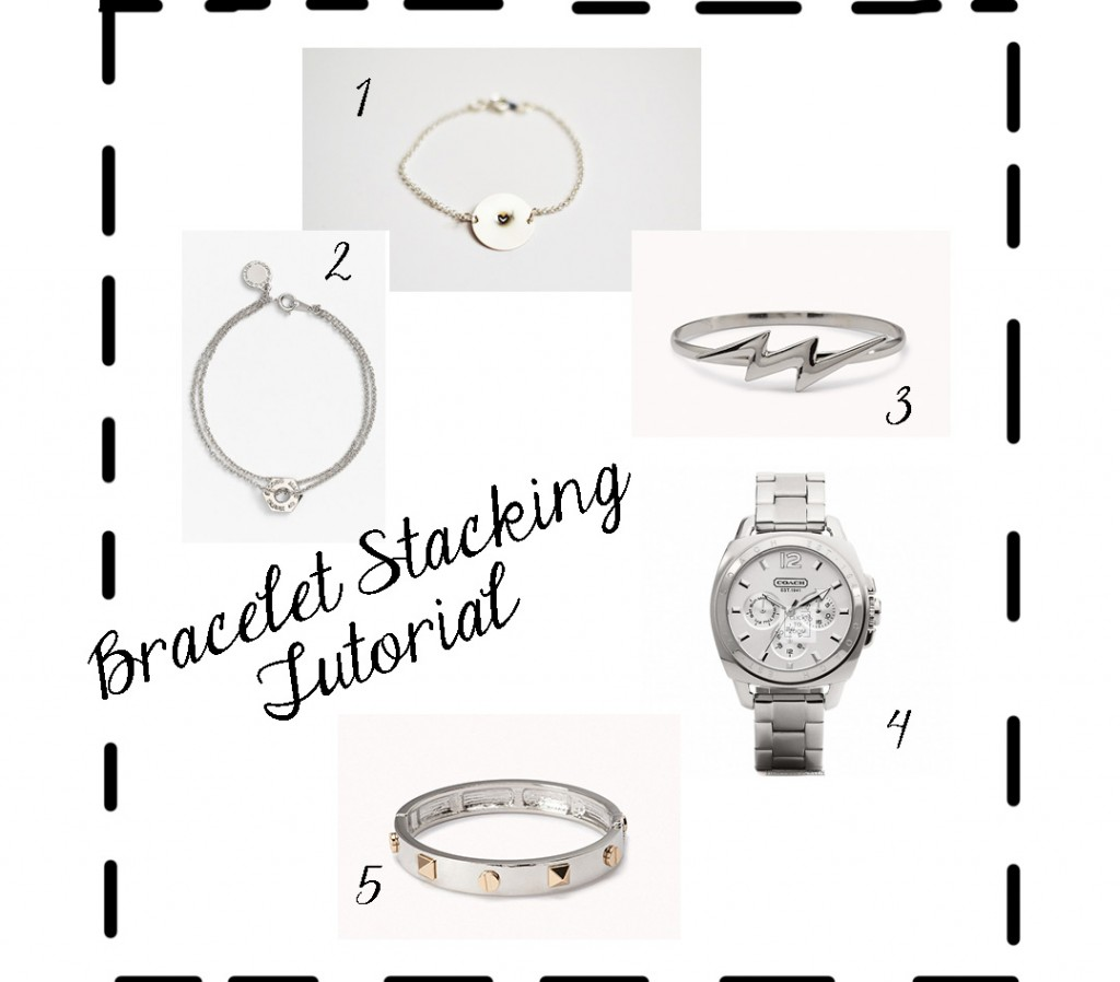 bracelet stacking tutorial