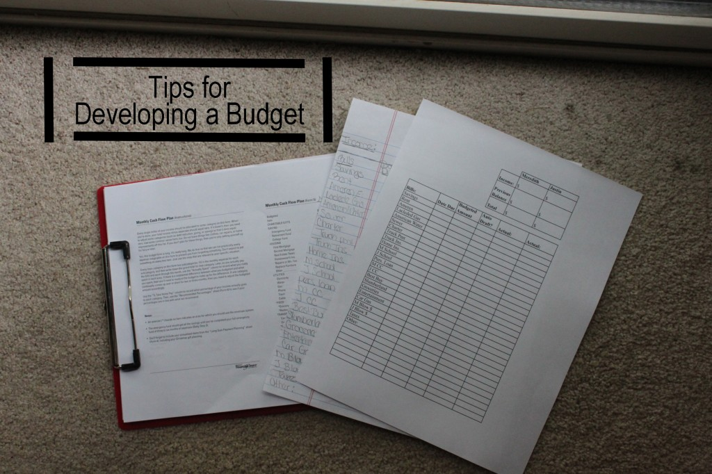 tips for developing a budget