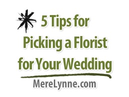 tips for selecting a florist for your wedding