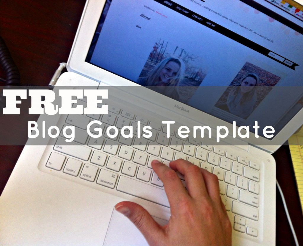 blog goals template