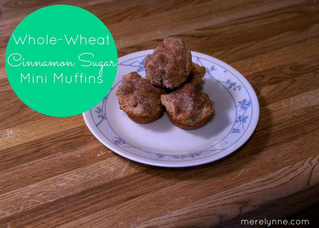 Whole Wheat Cinnamon Sugar Muffins