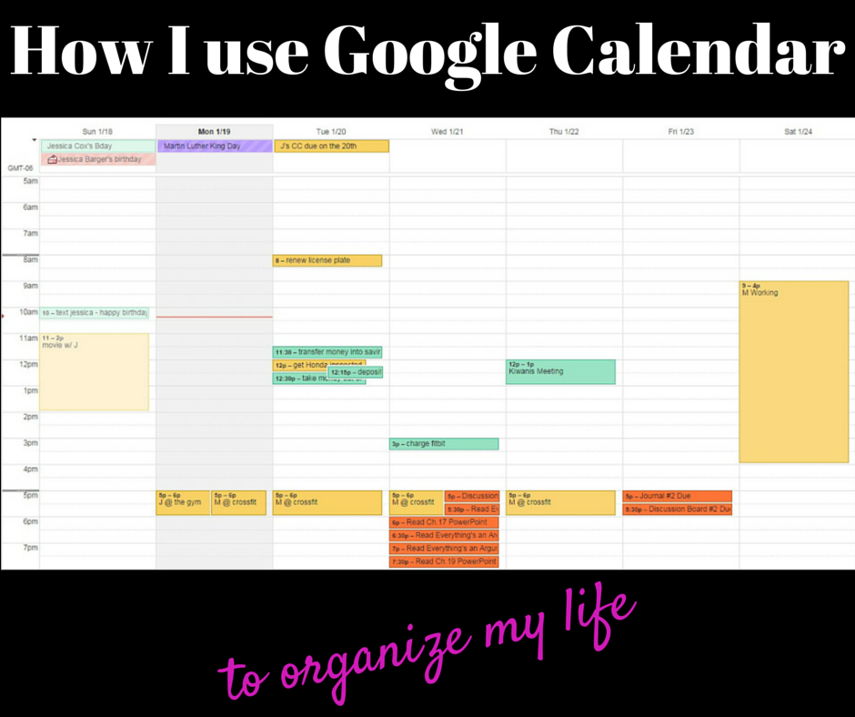 How I use Google Calendar