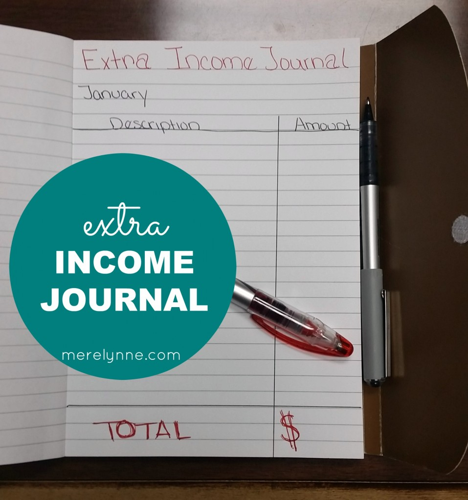 extra income journal, income tracker