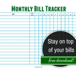 Stay on top of your bills with a monthly bill tracker