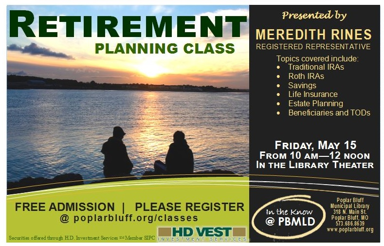 retirement planning class in poplar bluff, mo