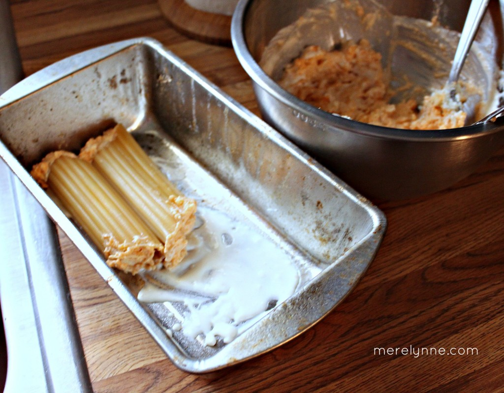 buffalo chicken stuffed manicotti, pan