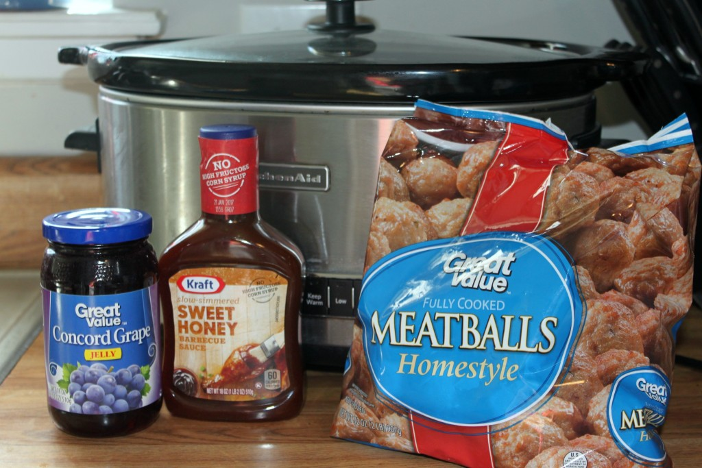 crock pot meatballs, 3 ingredient meatballs
