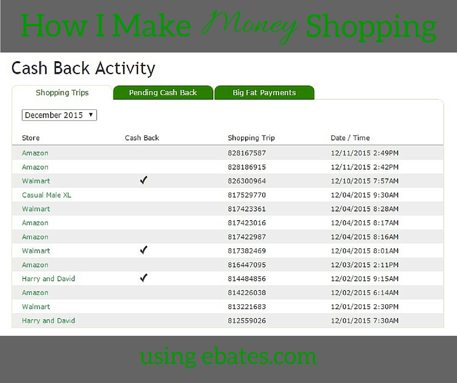 How I Make Money Shopping, ebates.com