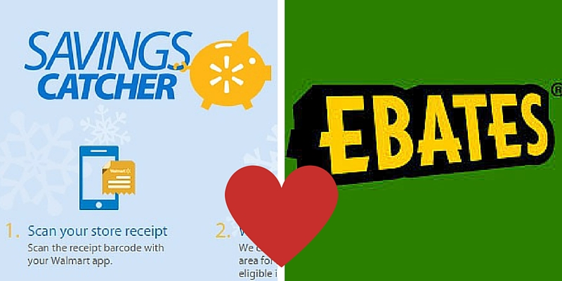 ebates.com and walmart savings catcher, making money shopping