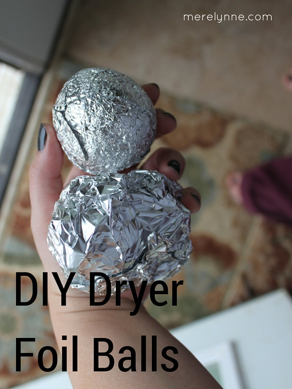 DIY Dryer Foil Balls, diy dryer balls