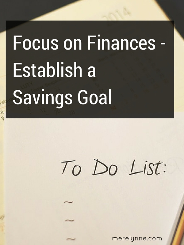Establish a Savings Goal