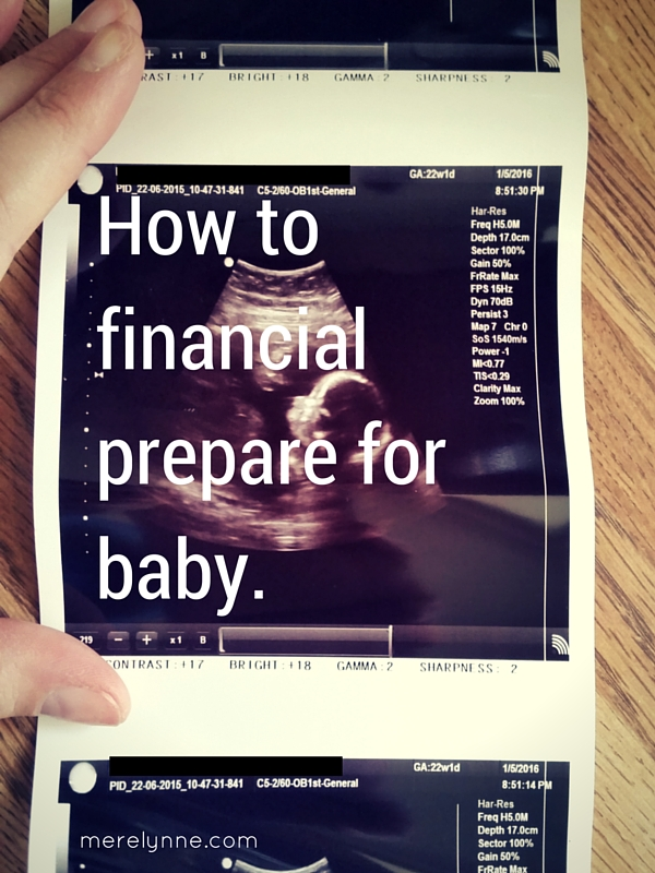how to financial prepare for baby