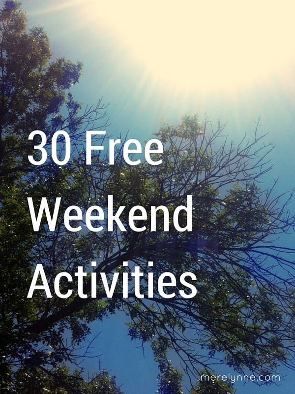 30 free weekend activities
