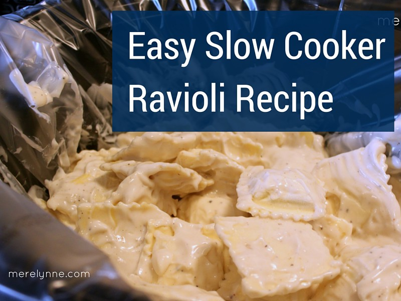 Easy Slow Cooker Ravioli Recipe