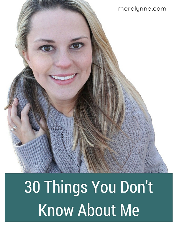 30 things you don't know about me