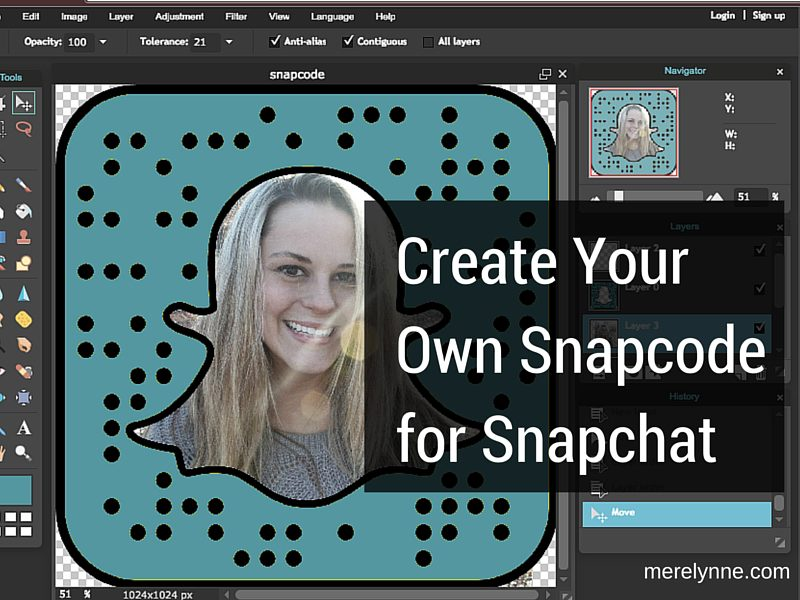 Create Your Own Snapcode for Snapchat