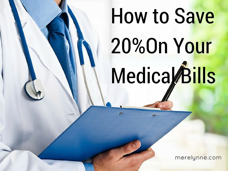 How to Save 20% On Your Medical Bills