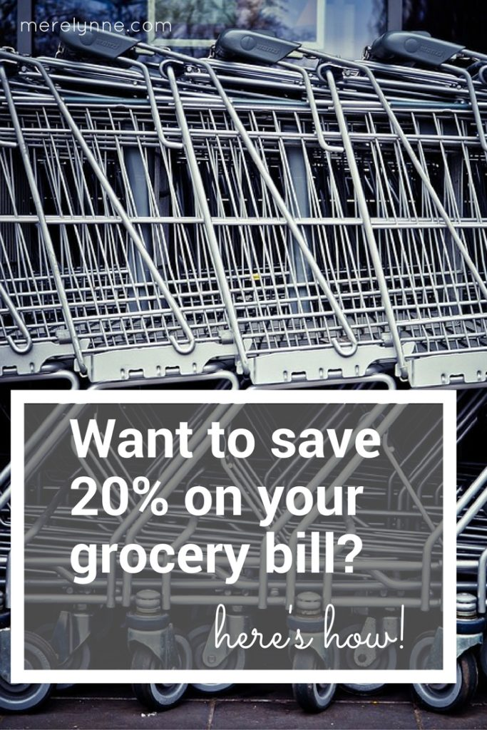 money saving tip for grocery store, Want to save 20% on your grocery bill-