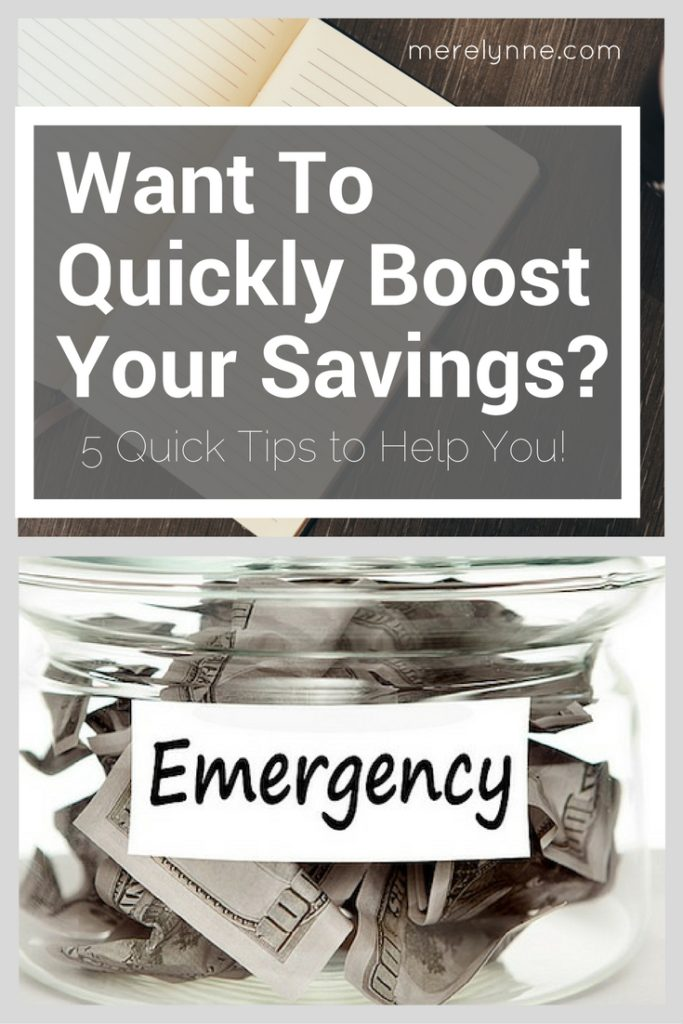 quickly boost your savings
