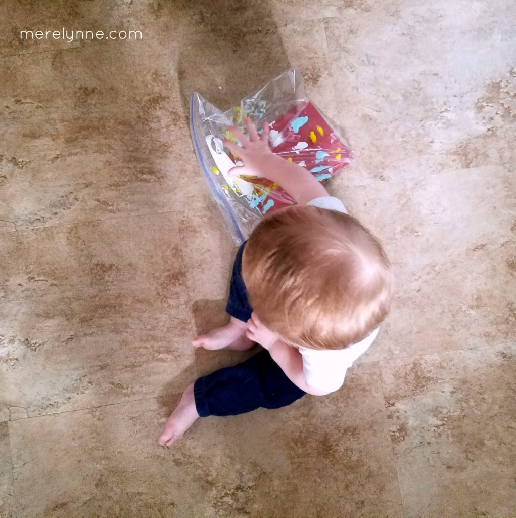 mess free painting, activities to do with baby, 9 month baby activities