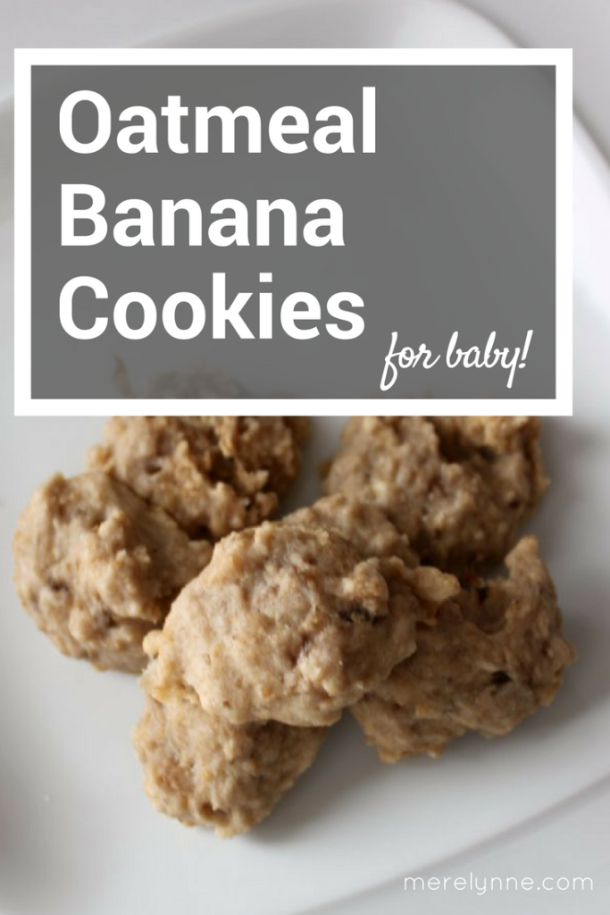oatmeal banana cookies for baby