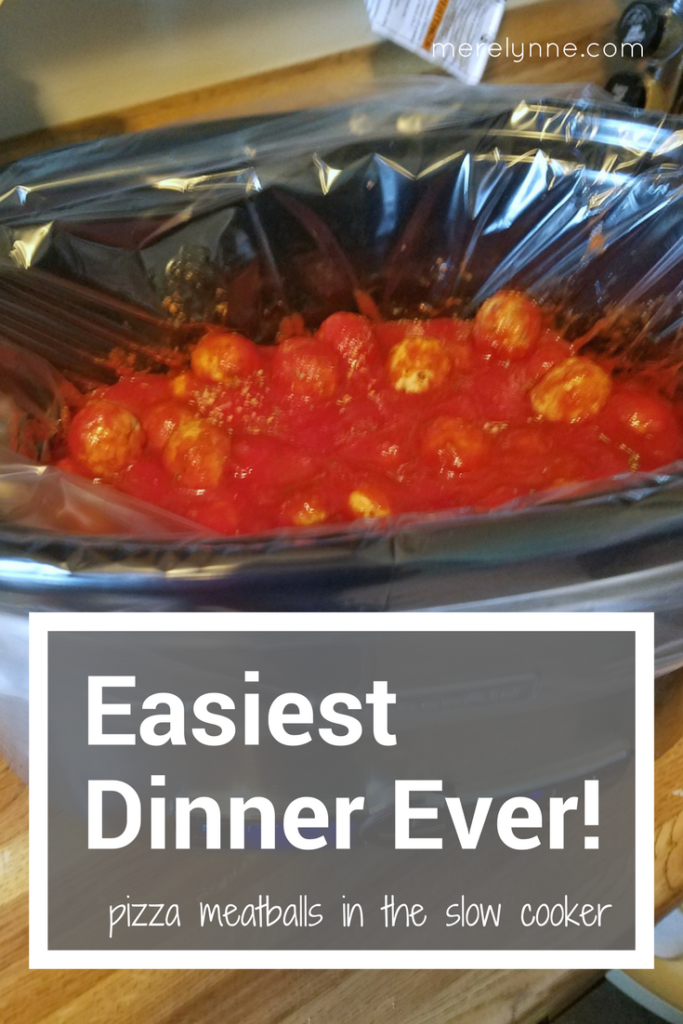 slow cooker meal, meatballs in the slow cooker, easy dinner in the crockpot