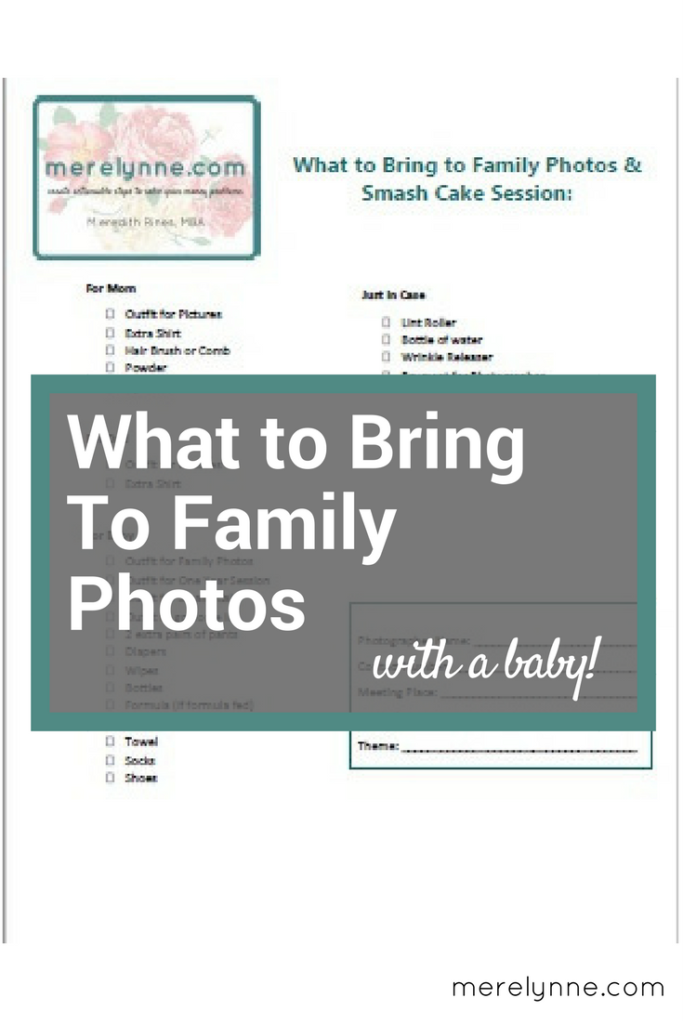 what to bring to family photos, checklist for family photo session, what to bring to cake smash session
