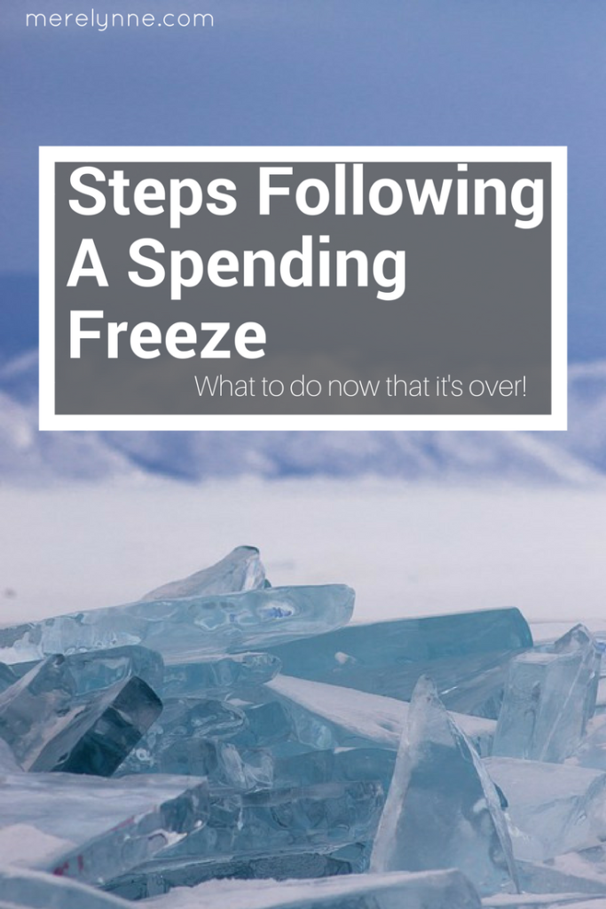 steps following a spending freeze, spending freeze, how to do a spending freeze, meredith rines, merelynne