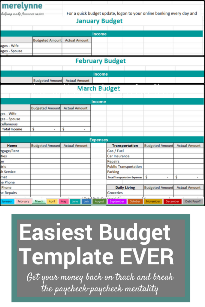 Make Your Own Budget Worksheets : Easy budget spreadsheet free monthly sheet excel