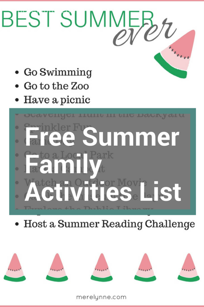 free summer activities, list of free summer fun