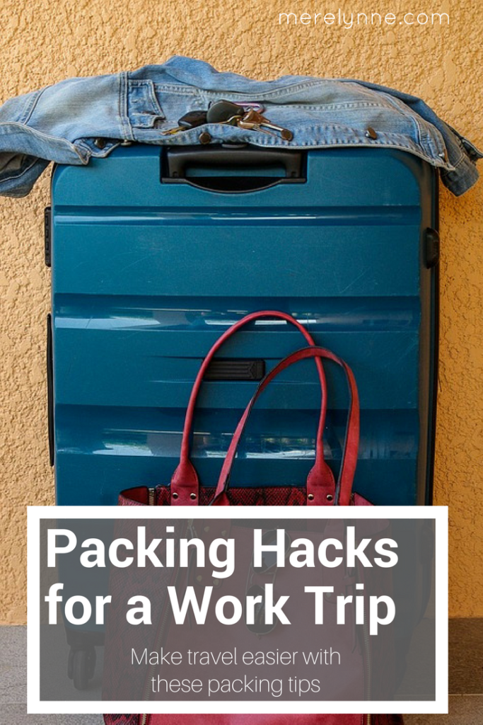 packing hacks for a work trip, packing hacks, packing for work, packing for a conference, how to pack for a work trip