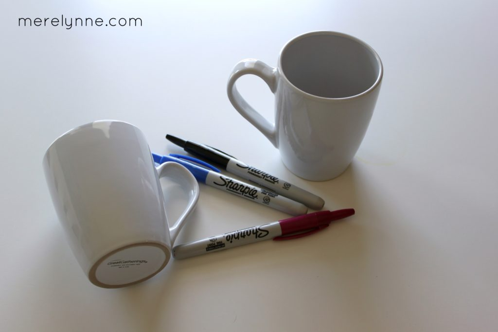 DIY sharpie mug, sharpie mug, easy birthday gift, personalized mug