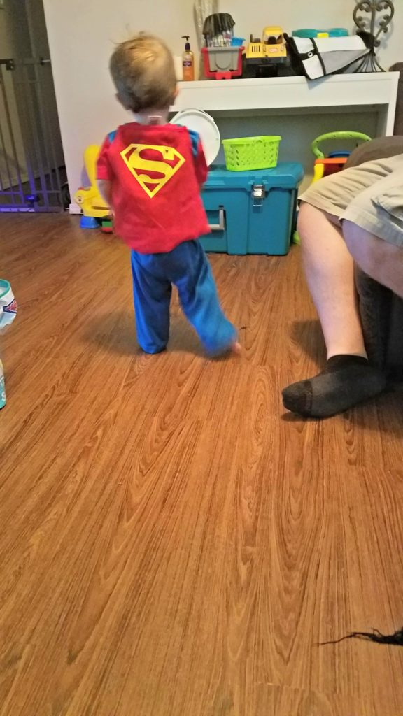 meredith rines, merelynne, budget expert, toddler, superman, little boy, toddler boy