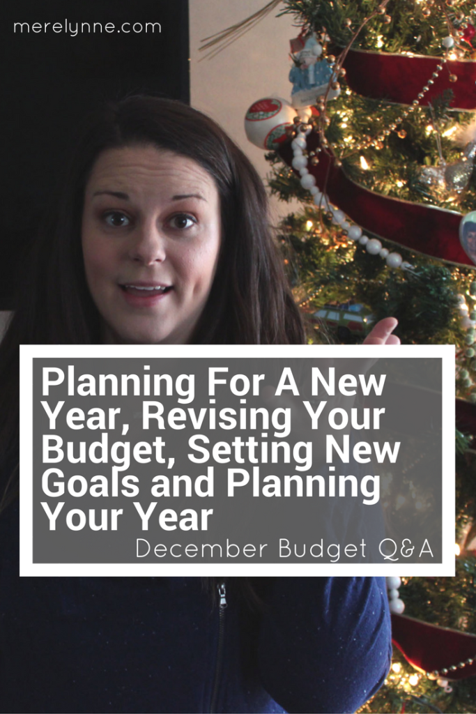 Planning For A New Year, Revising Your Budget, Setting New Goals and Planning Your Year, meredith rines, merelynne