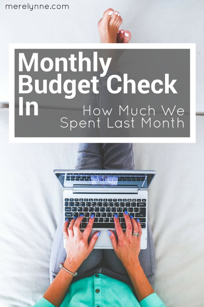 monthly budget check in, how much do we spend, budget help, budgeting recap, meredith rines, merelynne, budget recap