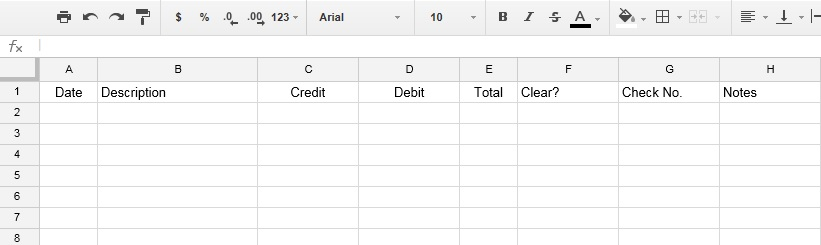 how to use google drive for your check register meredith rines