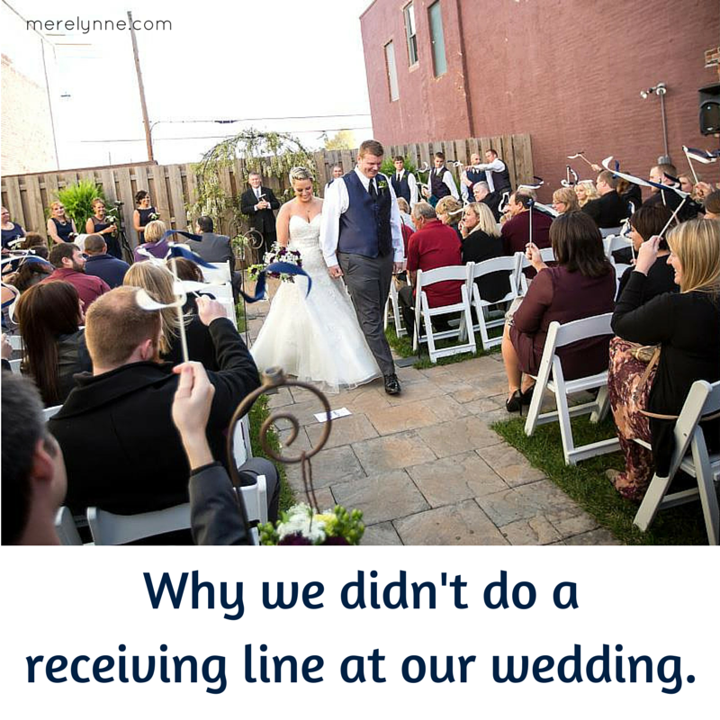 Why I'm Against Receiving Lines At Weddings   Meredith Rines