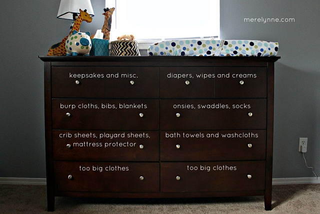 How To Organize Your Baby S Dresser